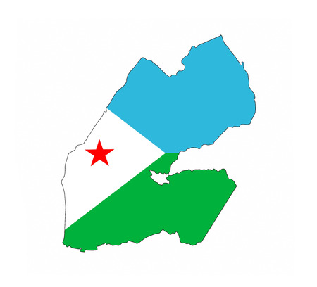 djibouti country flag map shape national symbol