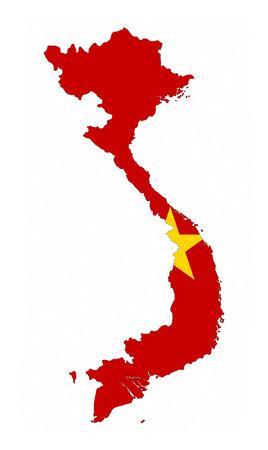 vietnam country flag map shape national symbol