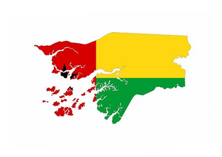 guinea bissau country flag map shape national symbol