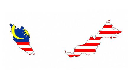 malaysia country flag map shape national symbol