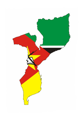 mozambique country flag map shape national symbol