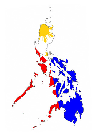 philippines country flag map shape national symbol