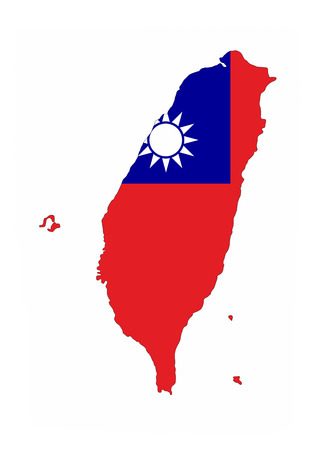taiwan country flag map shape national symbol