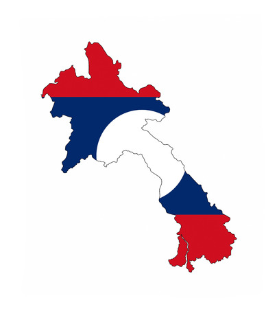 laos country flag map shape national symbol
