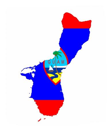 guam country flag map shape national symbol