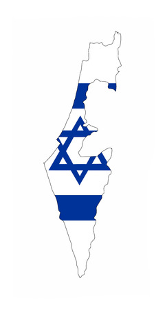 israel country flag map shape national symbol