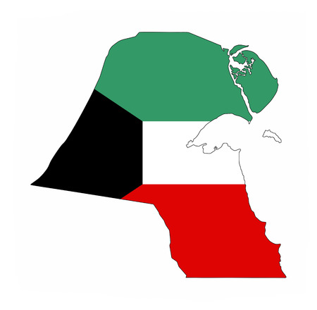 kuwait country flag map shape national symbol