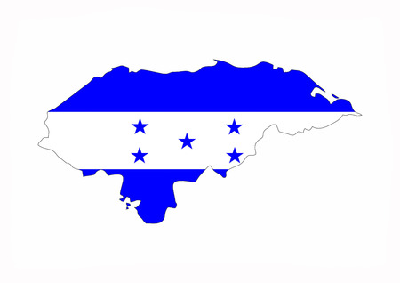 honduras country flag map shape national symbol