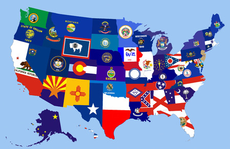 united states of america country republics flag map