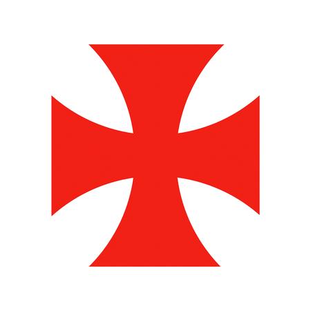 Photo for templar knights red cross crusade historic symbol - Royalty Free Image