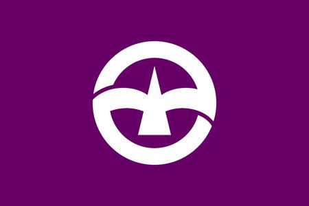 Japan Gunma prefecture Maebashi city flag illustration