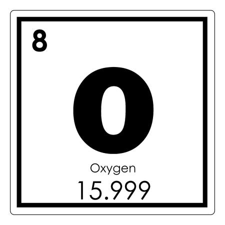 Photo pour Oxygen chemical element periodic table science symbol - image libre de droit