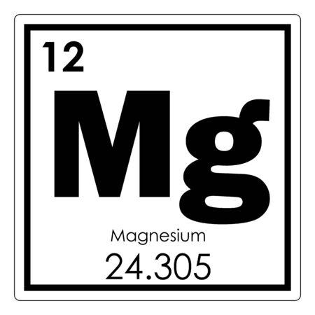 Photo pour Magnesium chemical element periodic table science symbol - image libre de droit
