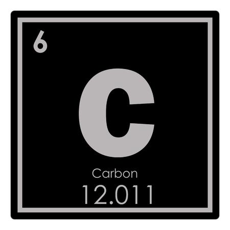 Photo pour Carbon chemical element periodic table science symbol - image libre de droit