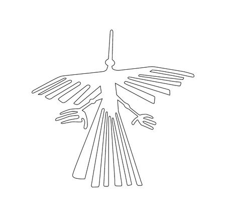 Foto de Nazca Peru bird ancient geoglyph symbol - Imagen libre de derechos