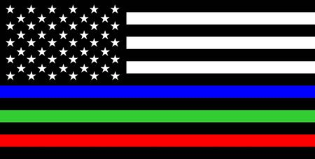 Photo pour Thin green line flag Army and Military Police Members symbol - image libre de droit