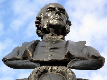Statue of Joseph Lister 1827-1912 an English surgeon who is regarded as the father of antiseptic surgery.