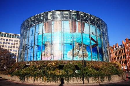 London, UK - January 14, 2012: The London at 1 Charlie Chaplin Walk, South Bank Waterloo showing its circular award winning design