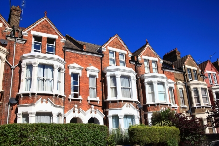 Victorian terraced town houses in London, England, UK
