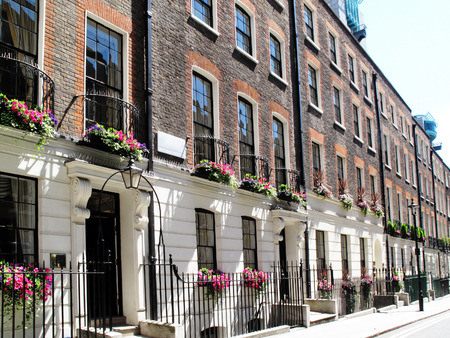 Regency Georgian terraced town houses in Westminster, London ,England