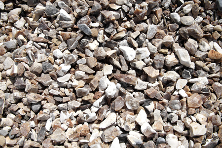 Background of rock pebble stones used for landscaping
