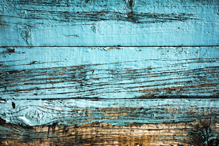 Photo for Old blue weathered distressed wood oak plank background - Royalty Free Image