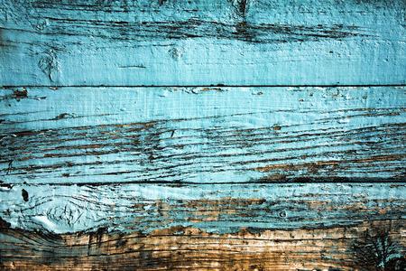 Photo pour Old blue weathered distressed wood oak plank background - image libre de droit