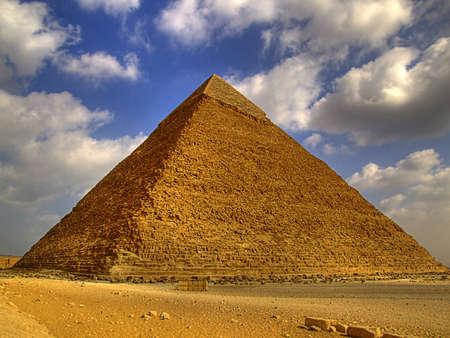 one of the great pyramids of giza in Egypt
