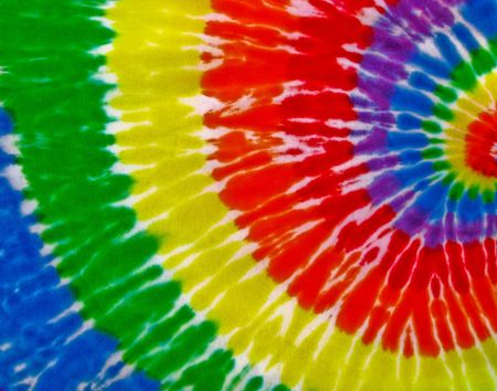 tie dye pattern on fabric