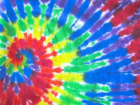 tie dye pattern on fabric