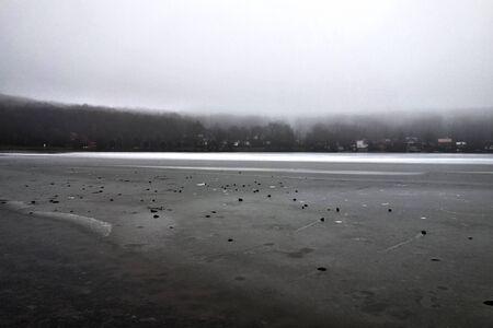 Frozen lake Vinné, Slovakia