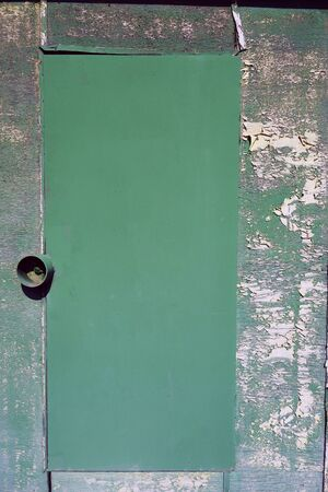 Locked iron door