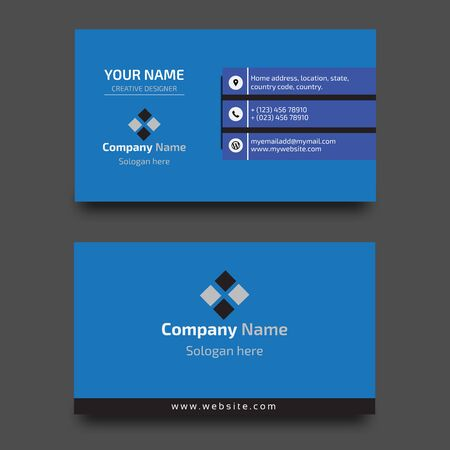 Illustration for Corporate Business card design template - Royalty Free Image