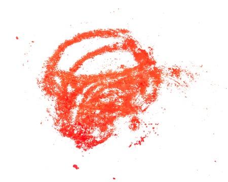 Foto für stripes of red pastel on white - Lizenzfreies Bild