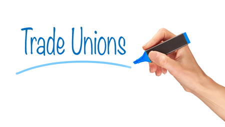 Trade Unions written, Induction Training headlines concept.
