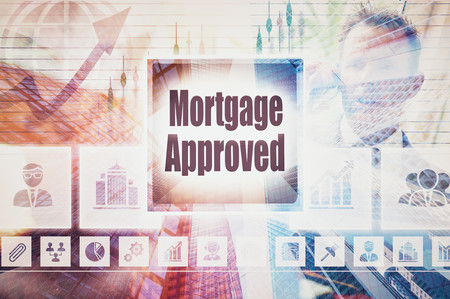 Business Mortgage Approved collage concept