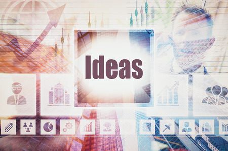 A Ideas business concept montage.