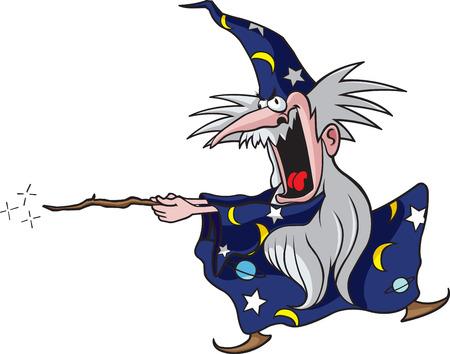 Cartoon Wizard illustration