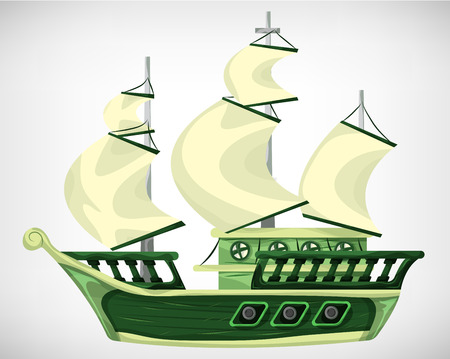 Illustration pour Cartoon vector pirate object for game and animation, game design asset - image libre de droit