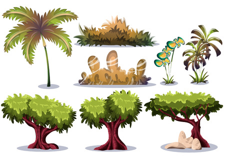 Illustration pour cartoon vector nature landscape object with separated layers for game art and animation game design asset in 2d graphic - image libre de droit