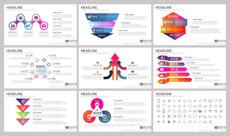 Ilustración de Modern Elements of infographics for presentations templates for banner, poster, flyer - Imagen libre de derechos