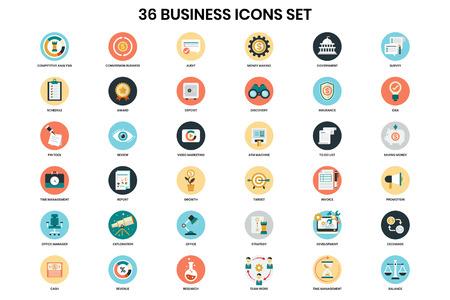 Illustration pour Business icons set for business, marketing, management - image libre de droit