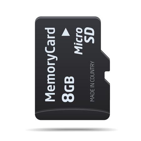 Illustrazione per Micro SD memory card - Immagini Royalty Free