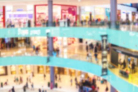 Blurred image of Dubai shopping Mall store center