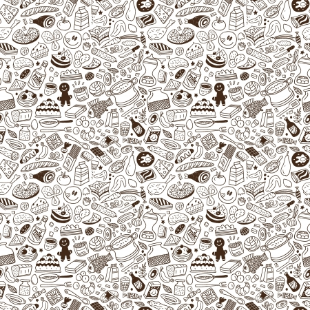 food ,cookery - seamless vector pattern