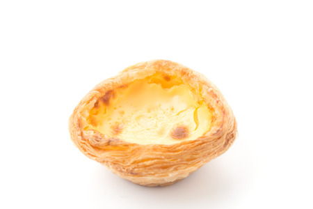 egg tart isolated on white background