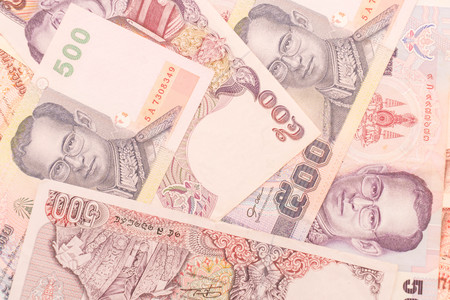 close up view of cash money bath bills