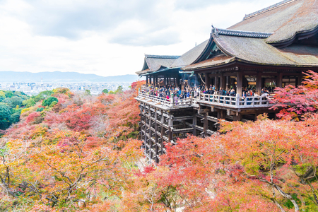 Kiyomizu or Kiyomizu-dera temple in autum season at Kyoto, Japan.