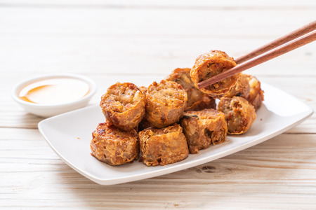 Photo for Deep Fried Crab Meat Rolls - Chinese food style - Royalty Free Image