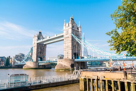 Photo for Tower Bridge in London City, UK - Royalty Free Image